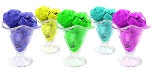 Color ice cream cones Stock Photography