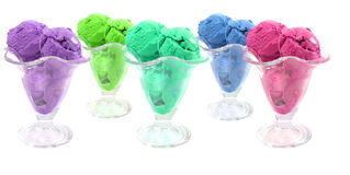 Color ice cream cones Stock Images
