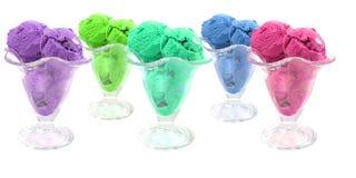 Color ice cream cones Stock Images