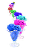 Color ice cream cones snake Stock Photos