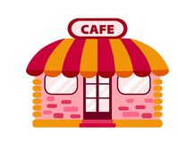 Vector icon cafe. Color icon cafe or tea-room Royalty Free Stock Photography