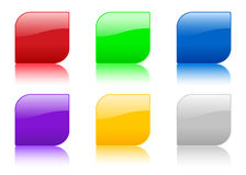Color icon with reflection Stock Photos