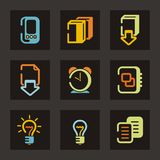 Color Icon Series. Color icons set. Check my portfolio for much more of this series as well as thousands of similar and other great vector items Royalty Free Stock Photos