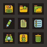 Color Icon Series - Basic Icons Stock Photography