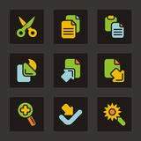 Color Icon Series - Basic Icons Stock Images