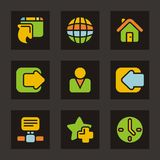 Color Icon Series - Basic Icons Royalty Free Stock Photography