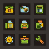 Color Icon Series - Basic Icons Royalty Free Stock Photos