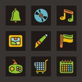 Color Icon Series - Basic Icons Stock Photo