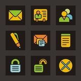 Color Icon Series - Basic Icons Stock Image