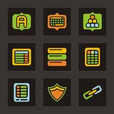 Color Icon Series - Database Icons Royalty Free Stock Image