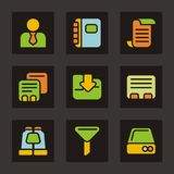 Color Icon Series - Database Icons Stock Photo