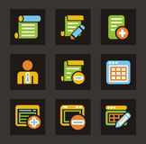 Color Icon Series - Database Icons Stock Image