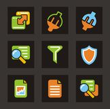 Color Icon Series - Database Icons Stock Photography