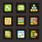 Color Icon Series - Database Icons Royalty Free Stock Photo