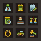 Color Icon Series - Finances Stock Image