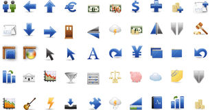 Color icon series - finances Royalty Free Stock Image