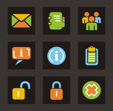 Color Icon Series - General Icons Royalty Free Stock Photography