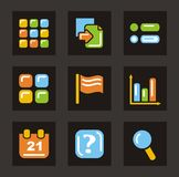 Color Icon Series - General Icons Stock Photo