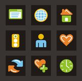 Color Icon Series - General Icons Royalty Free Stock Images