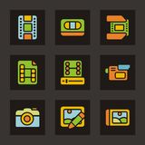 Color Icon Series - Media Royalty Free Stock Photos