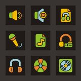 Color Icon Series - Media Icons Stock Image