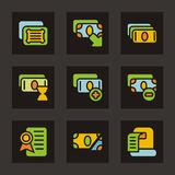 Color Icon Series - Money Royalty Free Stock Images