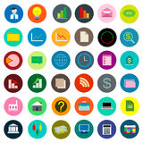 Color icon set business Stock Images