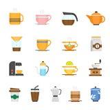 Color icon set - coffee and tea Stock Image
