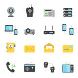Color icon set - communication devices Royalty Free Stock Photos