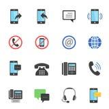 Color icon set - communication Stock Photos