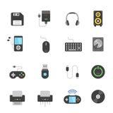 Color icon set - devices accessory Stock Photo