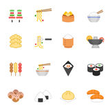 Color icon set - Eastern food Royalty Free Stock Images