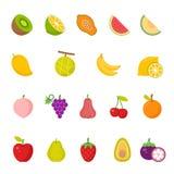 Color icon set - fruit Stock Images