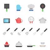 Color icon set - kitchenware Stock Photo
