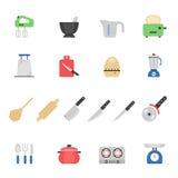 Color icon set - kitchenware Royalty Free Stock Photos
