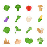 Color icon set - vegetable Royalty Free Stock Image