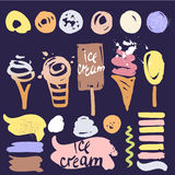 Color icon for sweet shop, cafe, restaurant. Vectors brush  Stock Photo