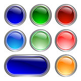 Color icons. Set of glass buttons (Color Stock Photography
