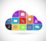 Color icons cloud computing illustration design Royalty Free Stock Image