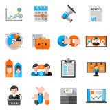 Color Icons For Elections Voting stock illustration