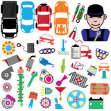 Color icons for garage Royalty Free Stock Photo