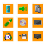 Color icons media. For web Royalty Free Stock Photography