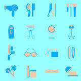 Color icons set of beauty Royalty Free Stock Images