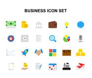 Color icons set. Business pack. Vector illustration Royalty Free Stock Image