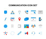 Color icons set. Communication pack. Vector illustration Royalty Free Illustration