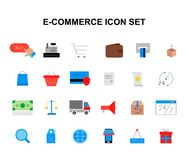 Color icons set. E-commerce pack. Vector illustration Stock Photography