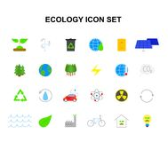 Color icons set. Eco pack. Vector illustration Vector Illustration