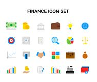 Color icons set. FInance pack. Color icons set. FInance  pack. Vector illustration Royalty Free Stock Image