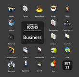 Color icons set in flat isometric illustration style, vector collection. Color icons set in flat isometric illustration style, vector symbols - Business Stock Photography