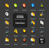 Color icons set in flat isometric illustration style, vector collection Stock Photo